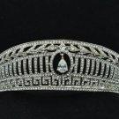 Wedding Bridal Prom Pageant Drop Flower Tiara Crown Rhinestone Crystals 99255R