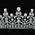 Wedding Big Tiara Crown Headbands with Clear Zircon Swarovski Crystals 17363RPL