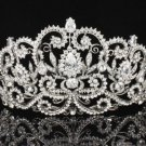 Bridal Wedding Prom Pageant Coil Flower Tiara Crown Swarovski Crystals JHA8382B