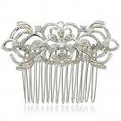 Bridal Hair Accessories Rhinestone Crystals Flower Hair Comb for Wedding 4011R