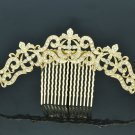 Vintage Rhinestone Crystal Palace Flower Comb Headband For Women Jewelry XBY077