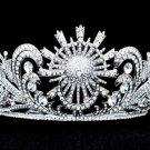 Weding Bridal High Quality Flower Tiara Crown W/ Clear Swarovski Crystal SHA8583