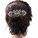 Cute White Imitation Pearl Hair Comb Women Wedding Prom Rhinestone Crystal 2221R