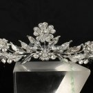Swarovski Crystals Tiara Crown  Flower Leaves Bridal Wedding Prom JHA7751
