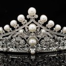 Pearl Wedding Bridal Tiara Crown Hair  Rhinestone Crystal Jewelry 4001R1