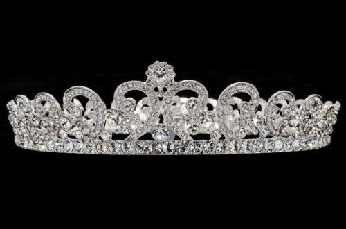 Round Flower Tiara Crown Headband for Wedding Jewelry Swarovski Crystal SHA8576A