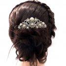 Smart Imitated Pearl Flower Hair Comb Wedding Jewelry Rhinestone Crystal 1446R1