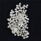 Beautiful Flower Brooch Broach Pin Women Wedding Jewelry Rhinestone Crystal 4926