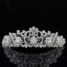 Flower Headband Tiara Crown Bridesmaid Prom Pageant Swarovski Crystal JHA3446