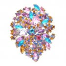 Elegant Rhinestone Crystals Flower Pendant Brooch Broach Pin 8 Color 3905