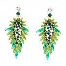 2 Color Beauty Flower Pierced Earring W/ Rhinestone Crystals for Women 111134