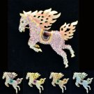 Swarovski Crystals High Quality Horse Brooch Broach Pin Lead Nickel SBA4512