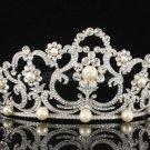 Flower Tiara Crown with Swarovski Crystals Imitated Pearl Bridal Wedding SHA8460
