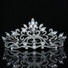 Smart Flower Clea Tiara Bridal Wedding Prom Pageant Swarovski Crystals SH8569-OC