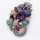 Charming Fasshion Austrians Crystal Flower Brooch Broach Pins Women Jewelry 6534
