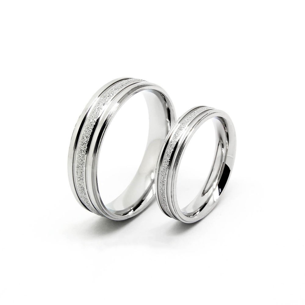 Men Women Love Couple Promise Stainless Steel Ring Valentine's Day Gift RIS002S