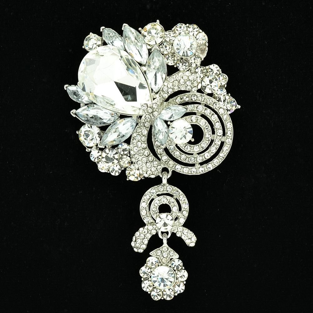 Women Rhinestone Crystals Flower Fruit Brooch Pendant Jewelry For 7 Color 6456