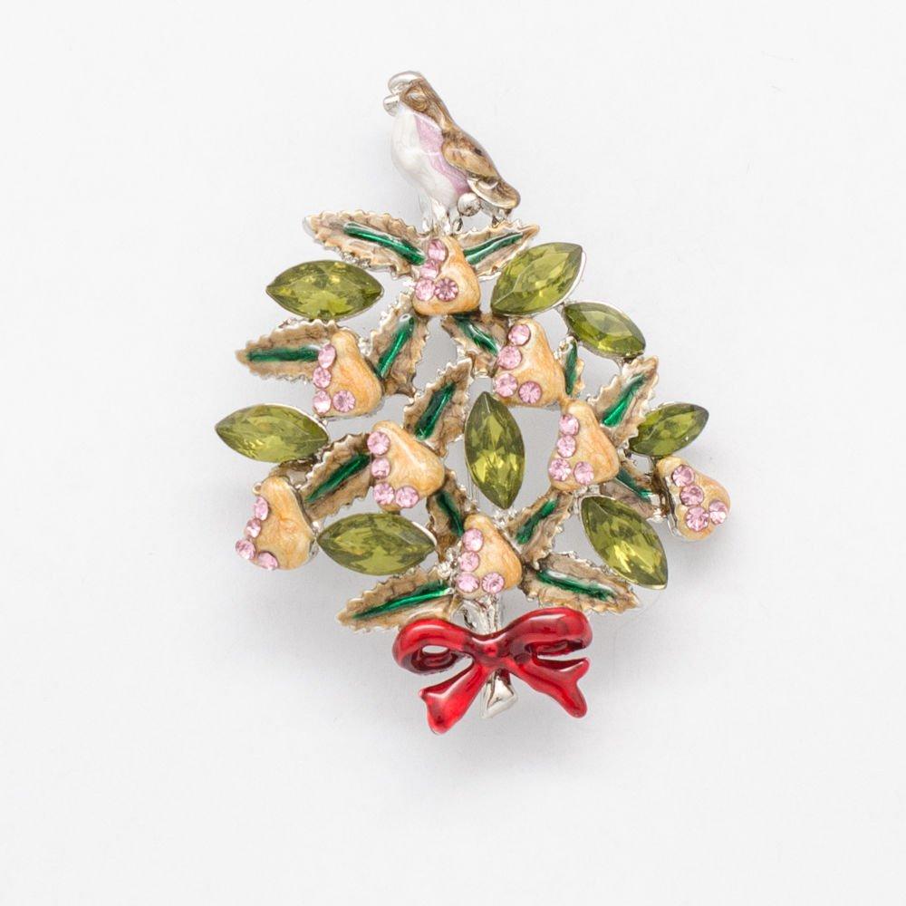 Smart Women Prom Gift Bowknot Christmas Tree Brooch Pin Rhinestone Crystals 0601