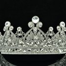 Super Swarovski Crystals Heart Flower Tiara Crown Bridal Wedding Jewelry SHA8645