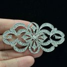 Cute Wedding Bridal Flower Hat Brooch Broach Pin Rhinestone Crystal Women XBY123