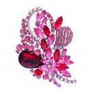 Flower Brooch 7 color  Hat Pin Rhinestone Crystals For Spring Jewelry 4622