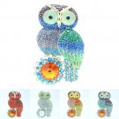 5 Color Owl Brooch Broach Pin Rhinestone Crystals Jewelry Accessories FA3183