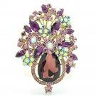 Rhinestone Crystal Drop Bridal Flower Brooch Broach Pin Women Party Jewelry 5844