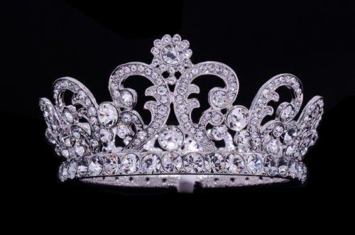 Wedding Clear Swarovski Crystal Flower Tiaras Crown For Girl Jewelry SHA8576B
