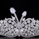 H-Quality Swarovski Crystal Clear Flower Tiara Crown Bridal Accessories SHA8689