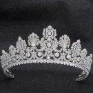 Gorgeous Classic Cubic Zirconia Wedding Small Size Luxembourg Empire Tiara Crown