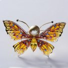 Fshion Micro-inlaid Zircon Insect Butterfly Brooch Pin Female Clothing Accessori