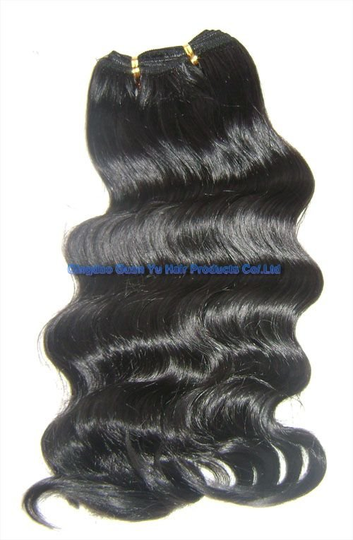 """18"""" body wave Chinese human hair weft"""