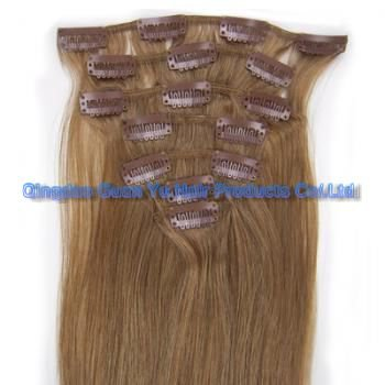 """14"""" 100% Indian clip in human hair extention"""