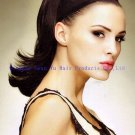 "16"" Indian clip in human hair extention ponytails"