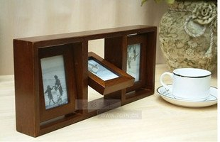 wooden photo frame HOME DECOR 6 pcs 3 inch picture nice gift
