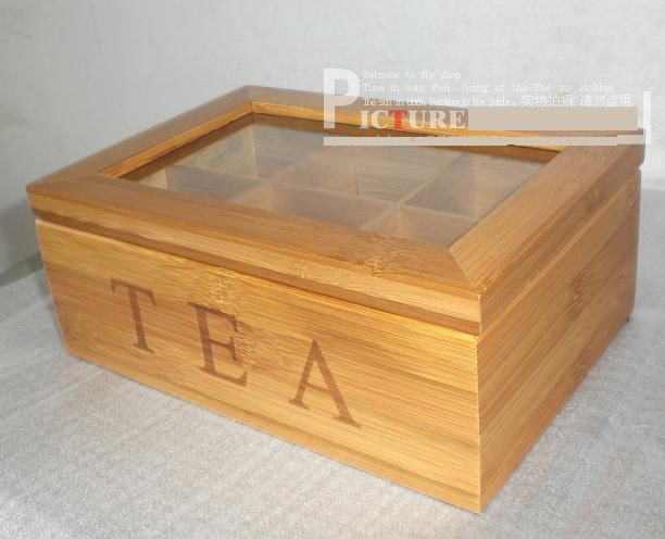 bamboo tea box home deco nice gift