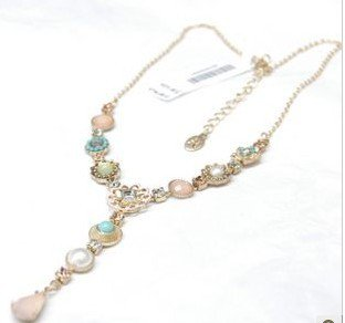 new style bridal necklace pink flower jewellery