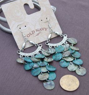 delicacy turquoise shell earing