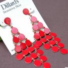 delicacy red edging earing