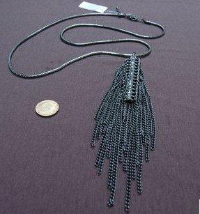 black edging necklace Diamond Sticking jewellery