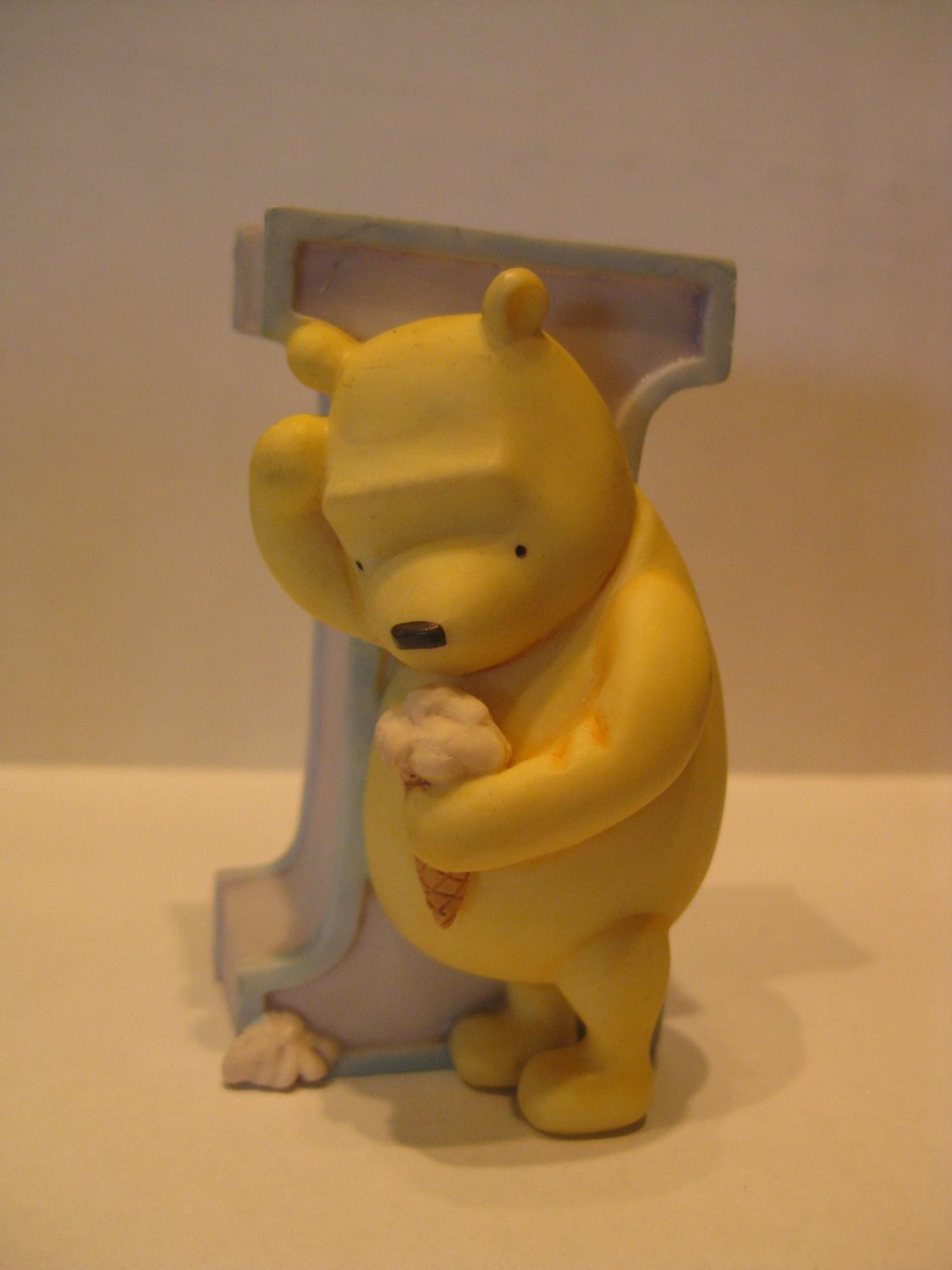 "Letter ""I""  Ice cream resin figure"