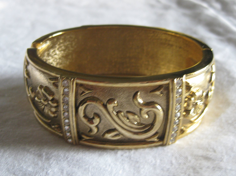 Gold with rhinestones