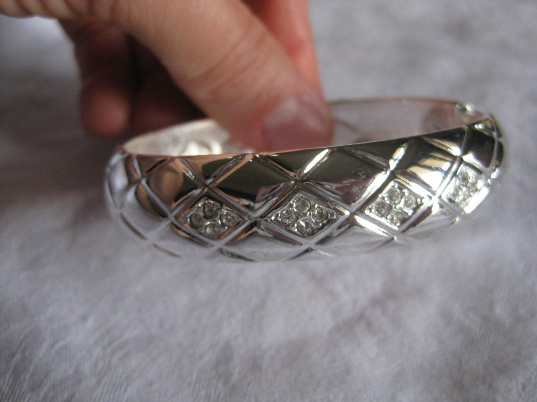 silver with rhinestones