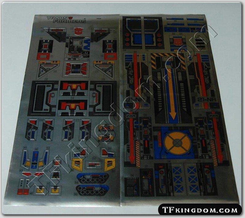 Transformers G1 Fortress Maximus Sticker Decal Sheet