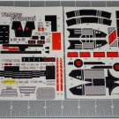 Transformers G1 Jetfire Sticker Decal Sheet