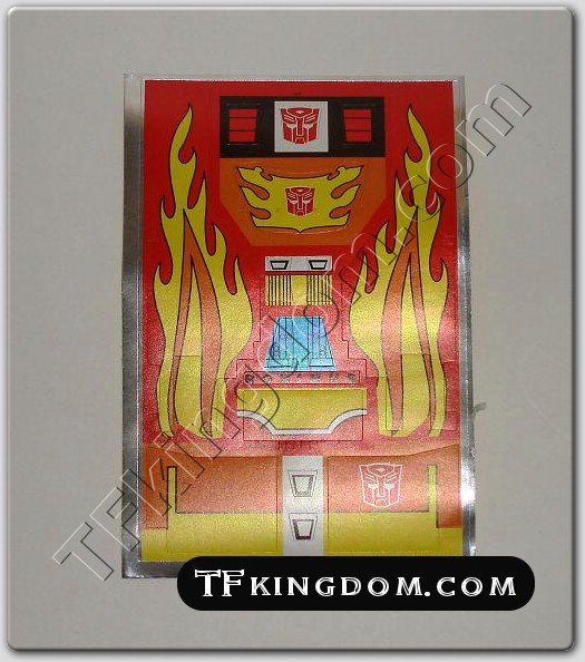 Transformers G1 Rodimus Prime Sticker Decal Sheet