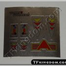 Transformers G1 Hot Rod Sticker Decal Sheet