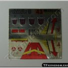 Transformers G1 Blitzwing Sticker Decal Sheet