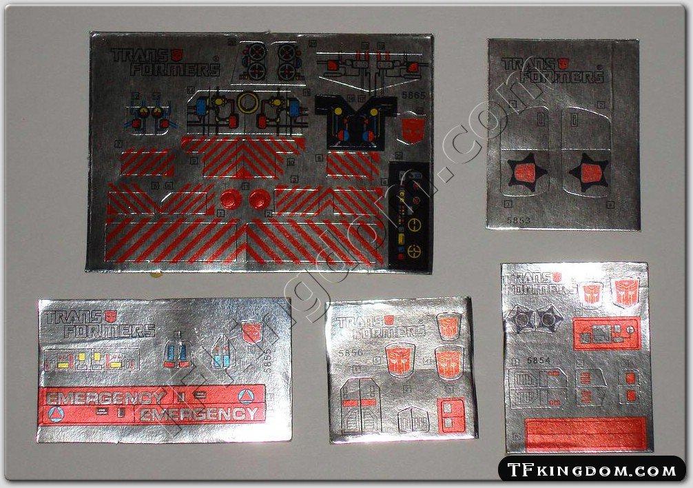 Transformers G1 Defensor Set Sticker Decal Sheet