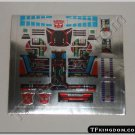 Transformers G1 Slag Sticker Decal Sheet